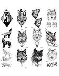 COKTAK 12 Hojas Realista 3D Pegatinas Tatuajes Temporales