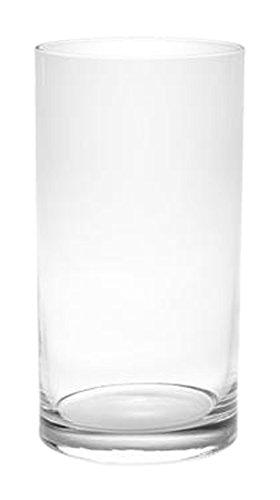 Vaso, Vetro, Trasparente, 11x11x25 cm