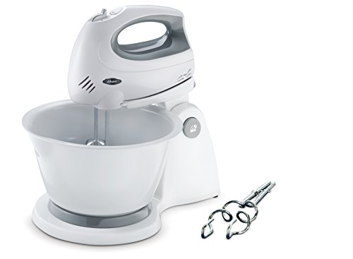 Oster 2610-049 250-Watt 6-Speed Stand Mixer (White/Grey)