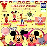 Disney Character Happiness stand Figure five type Set Japan Mini Mickey Minnie