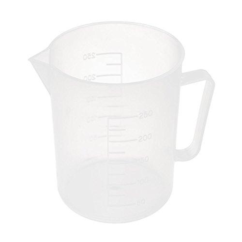 7 x 9 cm klar Kunststoff Zylinder Form Becher Tasse Measurer Messen de (Kunststoff-zylinder Klar)