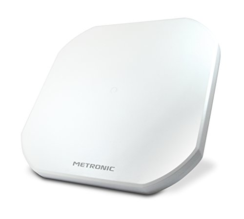 Metronic 498147 Parabole Satellite Plate 2 Sorties LNB Blanc