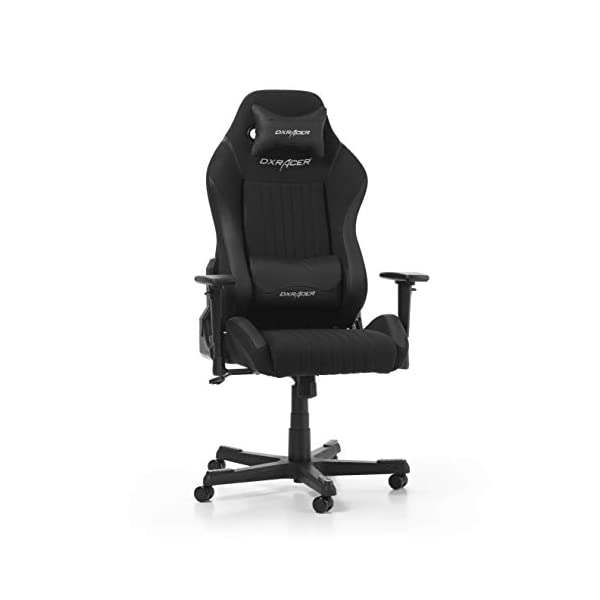 DXRacer (el Original) Drifting D02 Gaming Chair Silla para PC/PS4/xbox One, ergonómico Escritorio Silla con Funda, Black