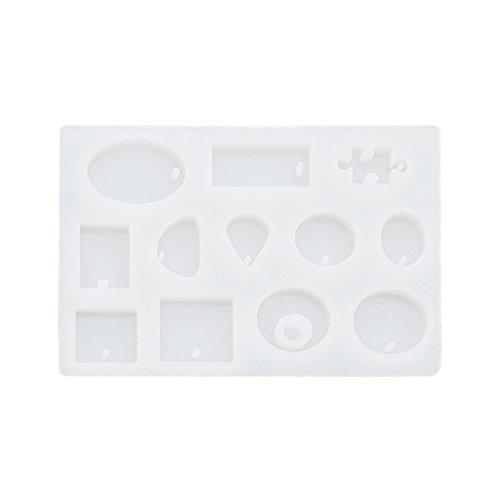 Fengge 12 Motif Silicone Casting Résine Pour Pendentif Bangle Bracelet Bijoux Fabrication De Moule (Blanc) (Bijoux 1 Licht)