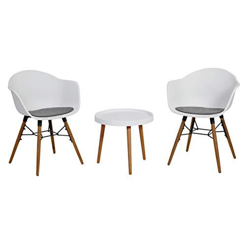 greemotion Balkonmöbel-Set Nora, Sitzgruppe aus Kunststoff und Akazienholz FSC® 100 %, B