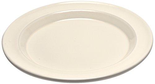 Emile Henry Eh028870 Assiette à dessert Céramique Beige Argile 21 X 21 X 2 cm