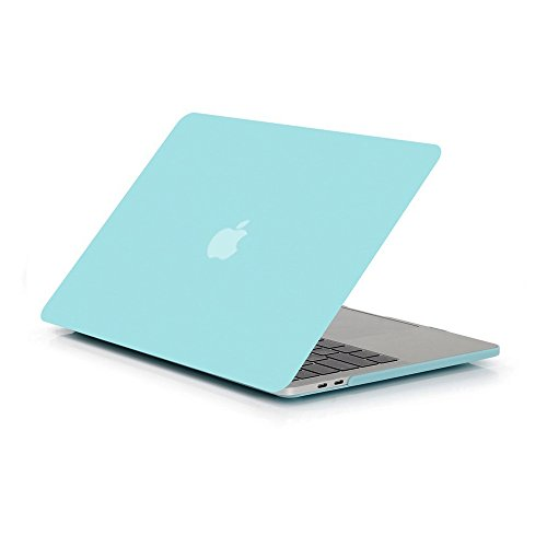 Glatte, Soft-Touch-Matte Kunststoff Hard Shell Schutzhülle für Apple MacBook Pro 15,439,1cm mit Touch Bar und Touch ID 2016Release A1707 aqua 39,12 cm (Macbook Soft-pro Fall)