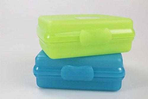 TUPPERWARE To Go Sandwich-Box blau + grün Brotbox Vesperbox Brot Vesper Dose