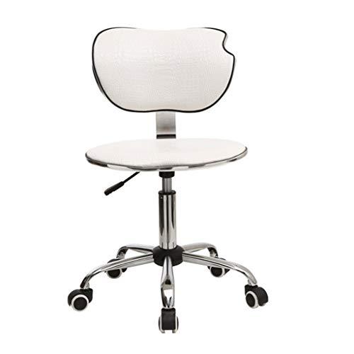 Jizhen Gaming Stuhl Racing Style High-Back PU Leder Bürostuhl Computer Schreibtisch Stuhl Executive und ergonomischen Stil Drehstuhl mit Kopfstütze und Lordosenstütze (weiß) -