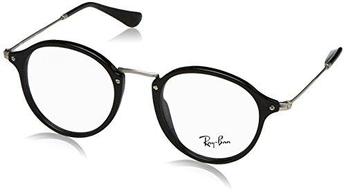 Ray-Ban Herren Brillengestell 0rx 2447v 2000 49, Schwarz (Shiny Black)