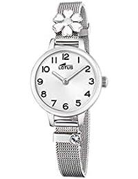 Lotus - Reloj para Niña Acero Flor Blanca Cierre de Hebilla 18661 1 f7914c52d591