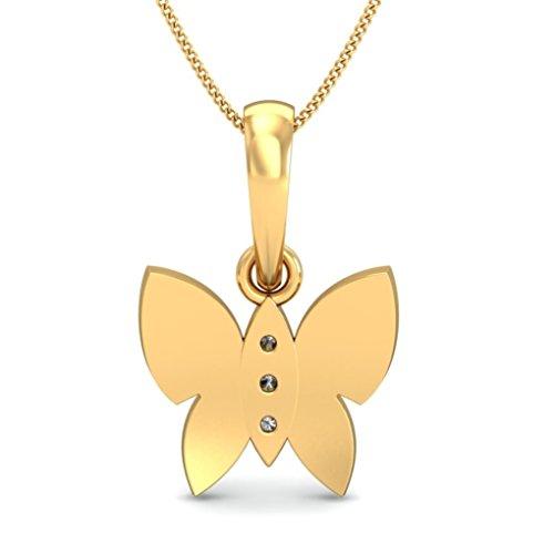 Belle Diamante 18K Yellow Gold and Diamond Pendant