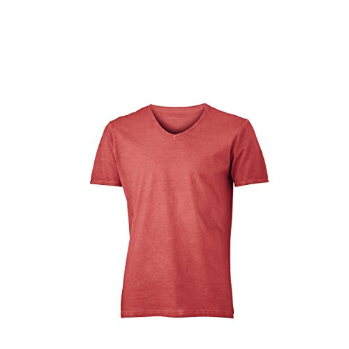 JAMES & NICHOLSON Herren T-Shirt, Einfarbig orange terre