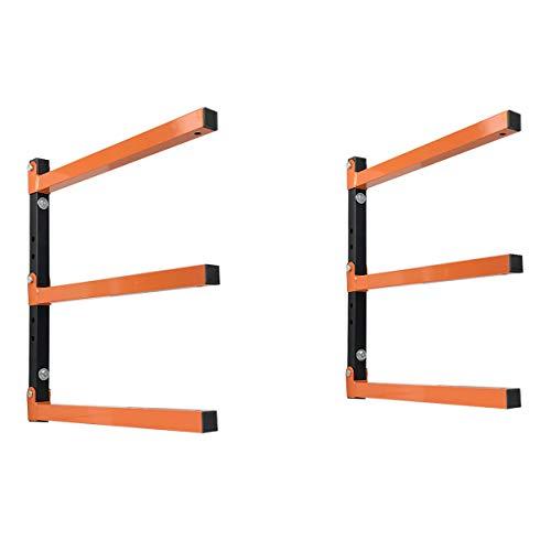 Homydom Holzregal 3 Ebenen, Holz-Organizer Wandhalterung für Garage & Keller & Werkstatt, strapazierfähig, unterstützt bis zu 330 kg -