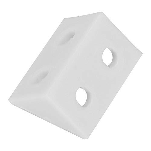 50 piezas de ángulo soportes de plástico ángulo recto L forma esquina...