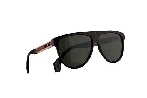 Gucci GG0462S Sonnenbrille Havana Weiß Mit Grünen Gläsern 58mm 003 GG0462/S 0462/S GG 0462S