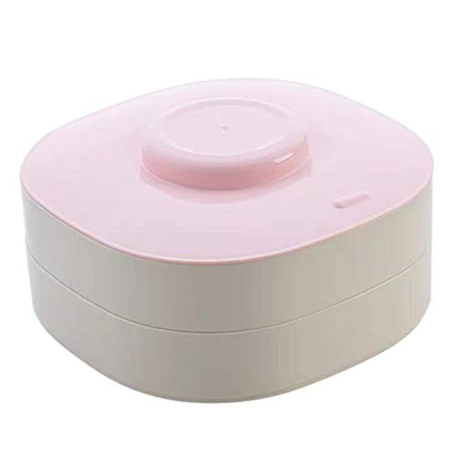 Pralinenschachtel Zweischichtgitter Snack-Kunststoff-Aufbewahrungsbox Nutshell Tray Nut Box, 22cm * 22cm * 9cm (Farbe : Rosa) (Nuts-box)