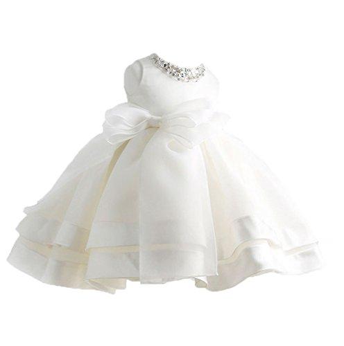Uleade Baby Mädchen Spitze Blume Prinzessin Hochzeit Party Pageant Geburtstag Tutu Kleid (Blume-mädchen-kleider Flauschige)