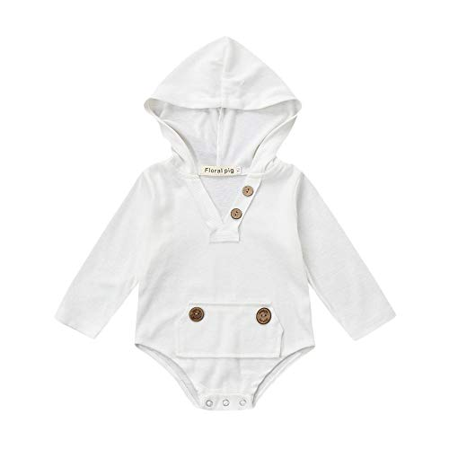 PLOT❤Boys Long Sleeve Hooded Romper Jumpsuit Newborn Baby Clothes Outfits 0-18M