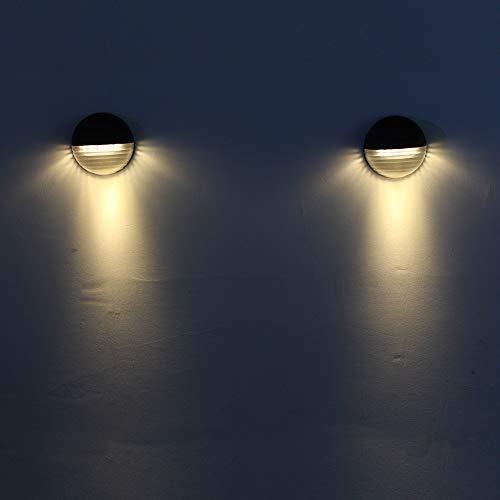 FeiliandaJJ Solar LED Garten Licht 6LED Wasserdicht Energiesparend Umweltfreundlich Solar LED Zaunlicht Outdoor Solarlicht für Garten Rasen Hof Eingang Park Platz Fassaden (Gelb)
