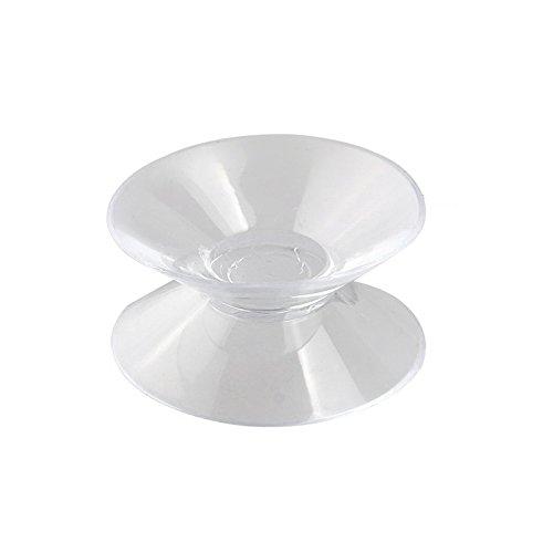 SODIAL (R) 9 pezzi Ventosa trasparente in plastica morbida Doppia faccia Auto
