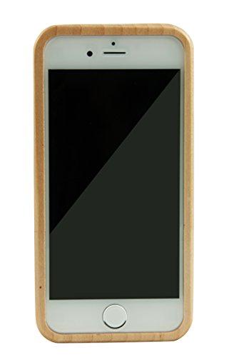 SunSmart Einzigartigen, handgefertigten Original Natural Wood Holzfest Bambus Case/Hülle/Tasche für iPhone 6 4.7''(Farbstreifen) Kompass Ahorn