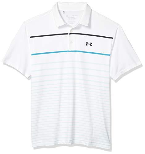 Under Armour Herren Playoff 2.0 Poloshirt, White (127)/Black, Medium