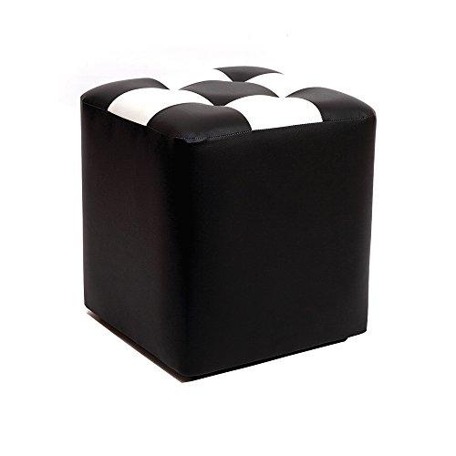 Quadratischer Schemel / Kaffee-Tabellen-Schemel / Multifunktionsfußbank / kreativer Frisierhocker / Schuhbank / Piers / Betthocker Wohnzimmersofahocker / niedriger Schemel / 30 * 30 * 35cm ( Farbe : Schwarz )