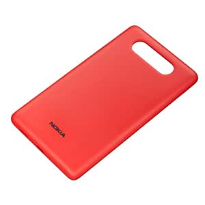 Nokia CC-3041 Wireless Qi Charging Clip-On Hard Shell Case Cover for Nokia Lumia 820 - Red