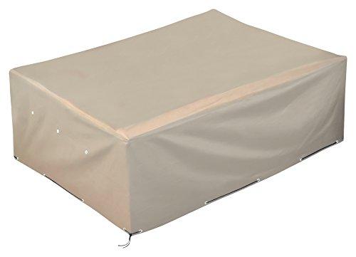 GardenMate® OXFORD Polyester Schutzhülle für Gartenmöbel 250x200x80cm - SANDFARBEN - Premium Qualität aus hochwertigem 220GSM Oxford Material