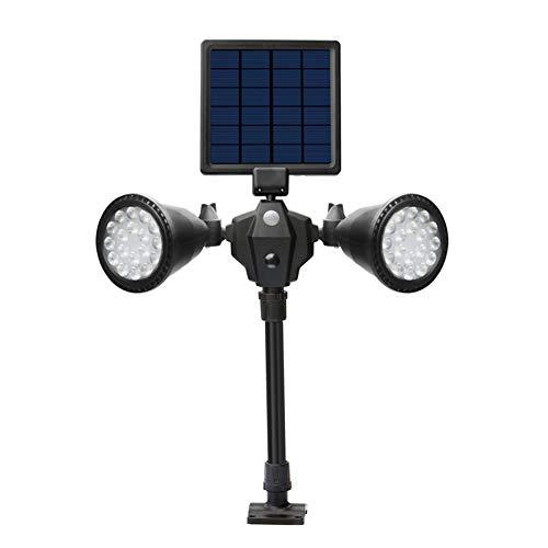 XY-M Solarbetriebene Roboter-LED-Scheinwerfer-Doppelköpfiger Smart-Sensor-Licht Für Outdoor-Rasen