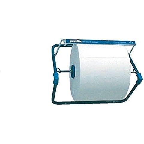 Temca - Profix soporte de pared de metal azul rollo industrial 470x400x510mm dispensador con borde de rasgado
