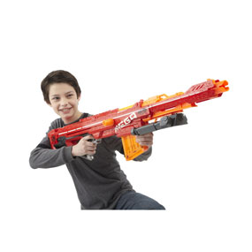Nerf N-Strike Elite is the ultimate in blaster performance. Featuring  upgraded distance and the revolutionary Mega Dart, this is the final word  in today's ...