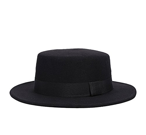 Erwachsene Für Hut Wollfilz (Fletion Unisex Damen Herren Winter Jazz-Hut Filzhut Bowler-Hut Wollfilz Kappe)
