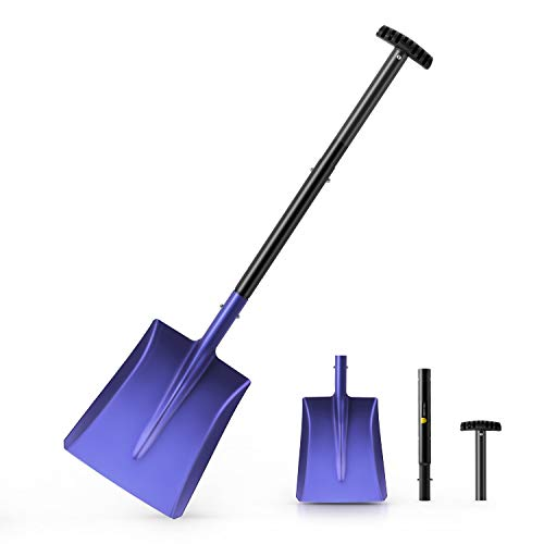 "ORIENTOOLS 38-inch Aluminum Lightweight and Dismountable Sport/Snow/Garden Utility Shovel, Suitable for Car or Truck Storage (9.5"" Blade)"