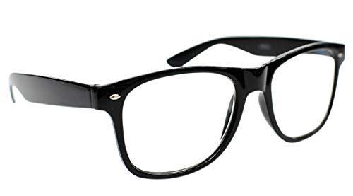 Fads & Fashions Tn49 Retro Wayfarer Stil Lesebrille + 1,0 + 1.25+1.50+2.0+2.5 erhältlich in 16 Colours - Glänzend Schwarz, 0.5+1.0+1.25+1.50+1.75+2.0+2.25+2.5+2.75+3.0+3.50