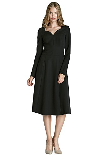 Nife Robe classique avec manches longues Noir