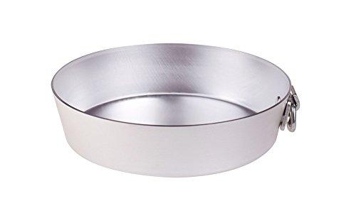 Pentole Agnelli konische Kuchenform mit Ring, aus Aluminium, Silber 18 cm Silber/schwarz
