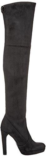 Buffalo London 2863 Micro Strech, Stivali Donna Nero (Black 01)