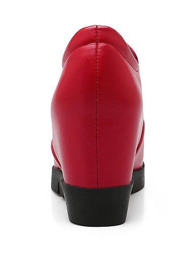 ZQ hug Scarpe Donna-Scarpe col tacco-Formale-Tacchi / Plateau-Zeppa-Finta pelle-Nero / Rosso , red-us10.5 / eu42 / uk8.5 / cn43 , red-us10.5 / eu42 / uk8.5 / cn43 red-us6.5-7 / eu37 / uk4.5-5 / cn37