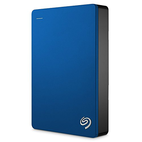 Seagate Backup Plus 5TB, blau,externe tragbare Festplatte inkl. Backup-Software, USB 3.0, PC & MAC & PS4  (STDR5000202)