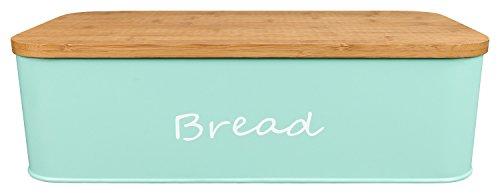 GranRosi Panera – Espaciosa panera de metal para el pan incluye una tabla para cortar hecha de bambú de alta calidad