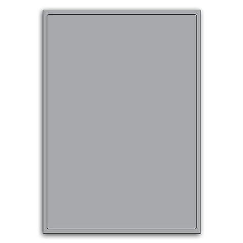 Shipping Or Multi Purpose Heavy Duty Silver Round Cornered Label