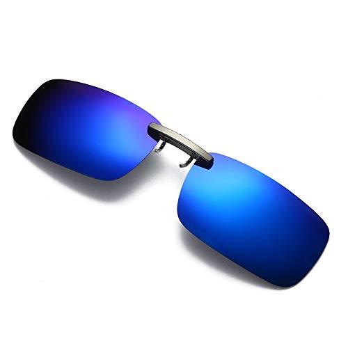 Randlose polarisierte Sonnenbrille Clip Aufsteckbare Sonnenbrille: Polarisierte Herren- / Damen-Sonnenbrillen passen über Korrekturbrillen und Lesegeräte.Schutzrandlose graue Rauchglasscheibe aus bruc
