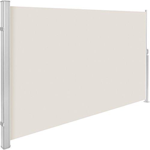 TecTake Toldo Lateral de Aluminio Separador retráctil terraza protección De Vivienda y de Base Postes Completo de Aluminio Varias tamaños - (Beige | 200x300cm | no. 401532)
