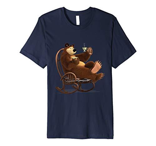 Mascha und der Bär Tee-Fan-Club T-shirt (Bär Damen T-shirt)