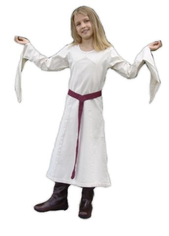Leonardo Carbone Mittelalter Kleider kleine Maid - Kinder Marktkleid - Kinder Sieglinde XS/grün