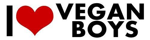 Vegan boys I Love STICKER Heart DECAL VINYL BUMPER DECOR CAR Graphic Wall by Unbranded* -