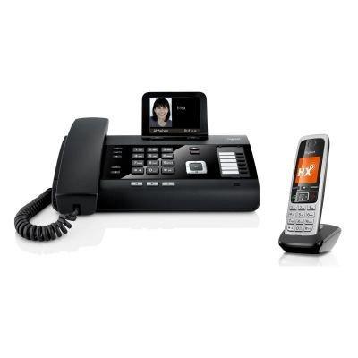 Gigaset DL500A + C430HX Telefon Kombi - Telefon / Schnurlostelefon - mit Farbdisplay - Freisprechfunktion - Anrufbeantworter / Dect Telefon - platin / schwarz