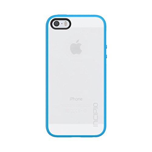 Incipio Octane Schutzhülle für Apple iPhone SE / 5S / 5 in Frost/Cyan [Extrem robust | Strukturierter Bumper | Transparent Hybrid] - IPH-1437-FCY (Incipio Cases 5 Iphone)